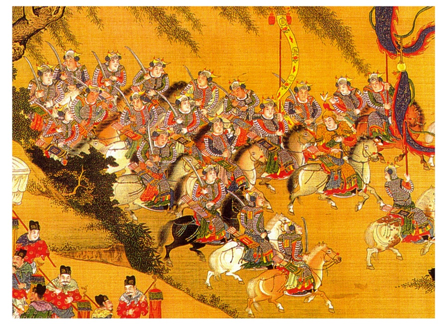 Chinesedynastiesc c ming weapons warfare for Dynasty mural works